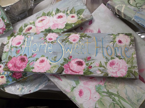 (Beloved Home Sweet Home) Handpainted Sign