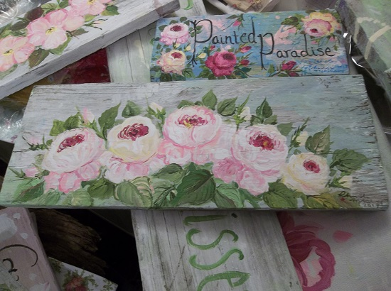 (Kindred Rose Sisters) Handpainted Sign