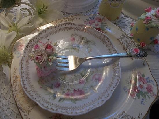 (Yummy) Vintage Fork, Bite Of Fake Cake