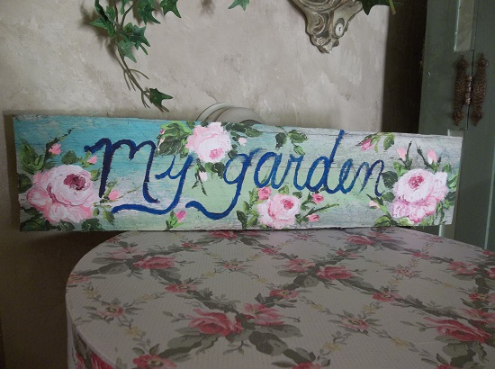 (My Garden) Handpainted Sign