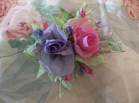 (Violet Rosita) Handmade Paper Rose Clip