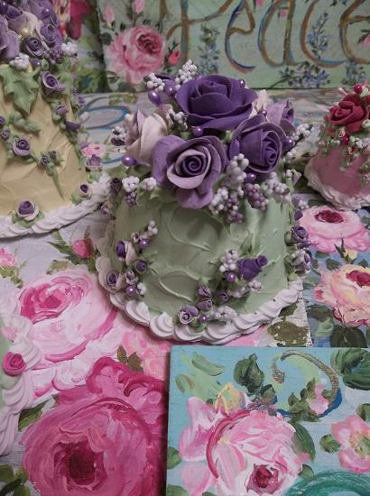 (Grandma Violet May) Funky Junk Fake Cake
