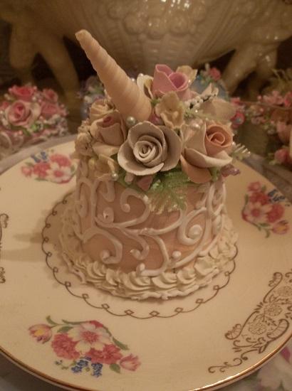 (Sea Unicorn) Funky Junk Fake Cake