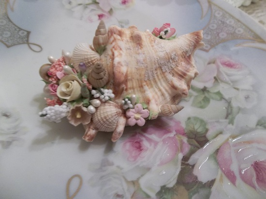 (May By The Sea) Decorated Seashell