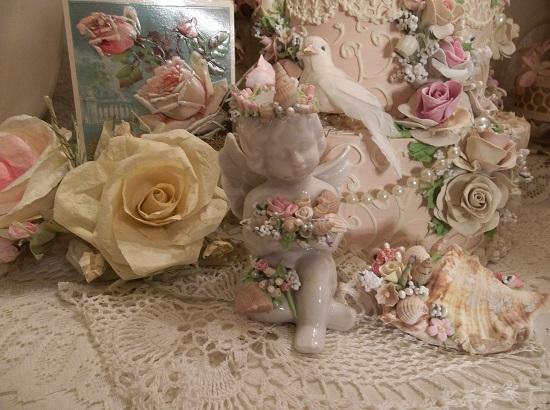(Sea Angel) Decorated Ceramic Cupid