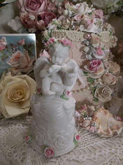 (Cupid Belle) Decorated Ceramic Cupid Bell
