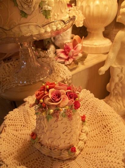 (Thanksgiving Rose) Funky Junk Fake Cake