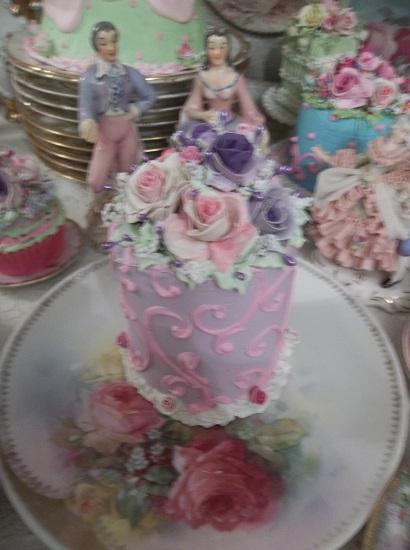 (Lilac Princess) Funky Junk Fake Cake