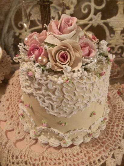 (Baby Lacey Rose) Funky Junk Fake Cake