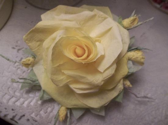 (Sunny Summer) Handmade Paper Rose Clip