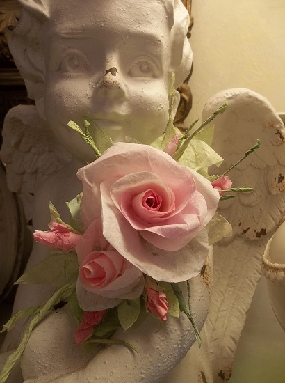 (Plautilla) Handmade Paper Rose Clip
