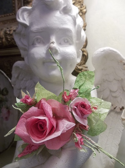(Marietta) Handmade Paper Rose Clip