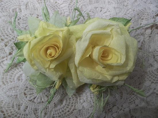 (Shasta) Handmade Paper Rose Clip