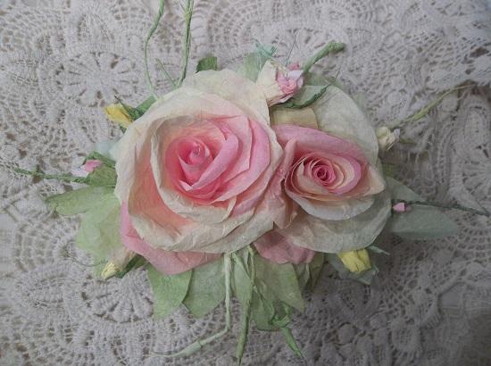 (Sheila) Handmade Paper Rose Clip