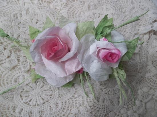 (Shari) Handmade Paper Rose Clip