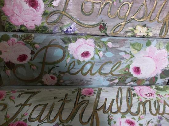 (Beautiful Peace) Handpainted Sign
