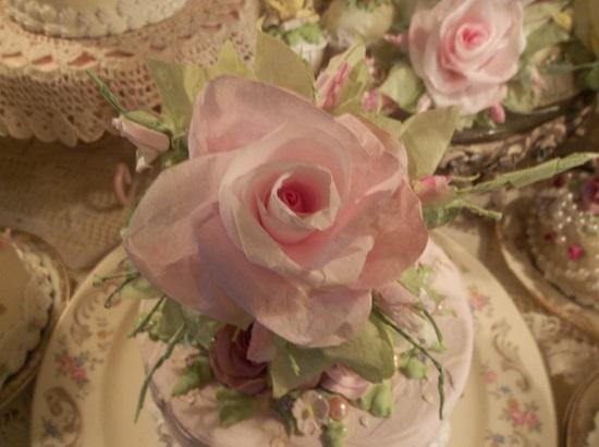 (Louisa) Handmade Paper Rose Clip