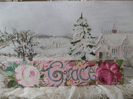 (Grace Rose) Handpainted Sign