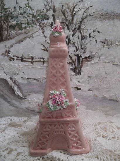 (Sophia) Decorated Ceramic Eiffel Tower