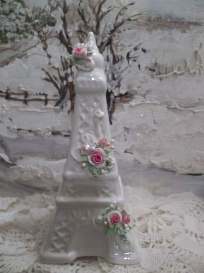 (Beatrix) Decorated Ceramic Eiffel Tower