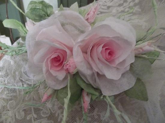 (Maxine) Handmade Paper Rose Clip