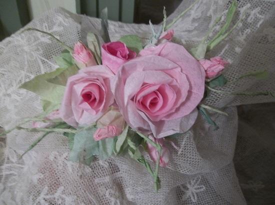 (Madilynn) Handmade Paper Rose Clip