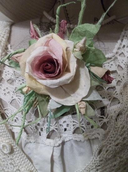 (Monday) Handmade Paper Rose Clip