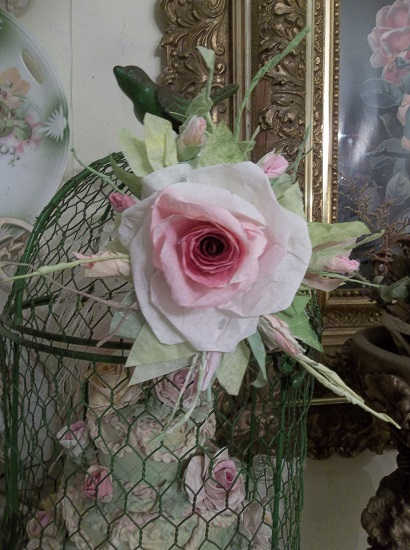 (Korina Rosa) Handmade Paper Rose Clip
