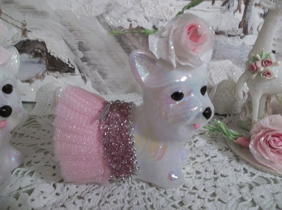 (Miss Twinkles) Decorated Puppy Ornament