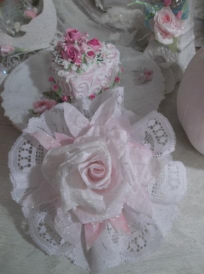 (Snowella) Lace And Rose Christmas/ Valentine Decor