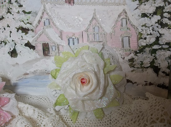 (Candle Light) Lace And Rose Christmas/ Valentine Decor