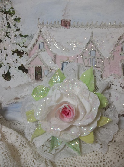 (Clarice) Lace And Rose Christmas/ Valentine Decor