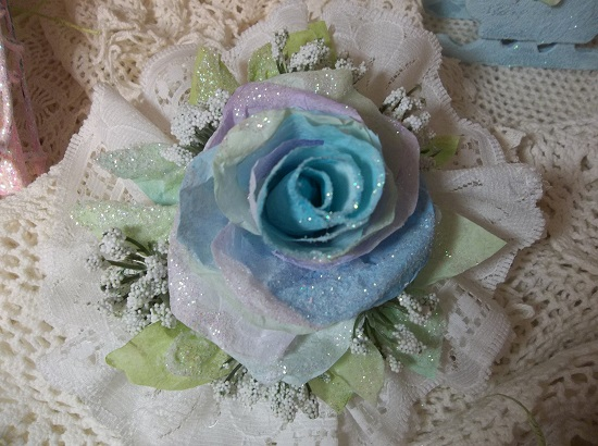 (Sea Sky) Lace And Rose Christmas/ Valentine Decor