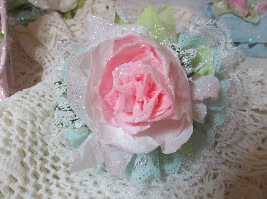 (Rose Of Sharon) Lace And Rose Christmas/ Valentine Decor