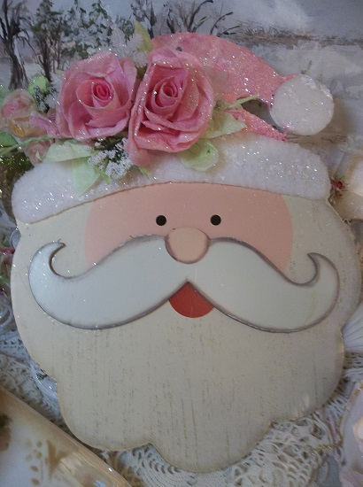 (Rosie Claus) Decorated Wood Cutout Christmas Decoration