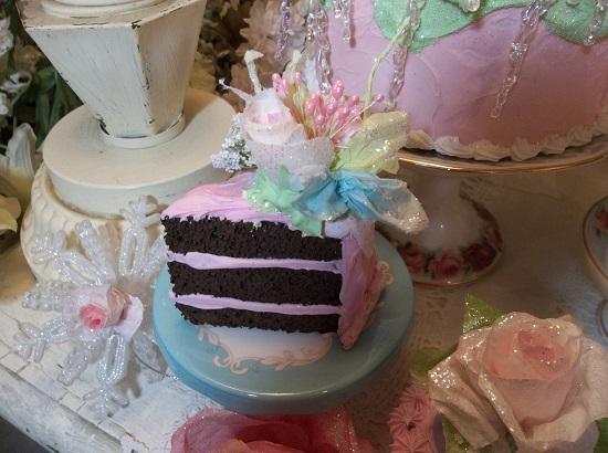 (Mrs. Santa's Chocolate Cake) Fake Cake Slice