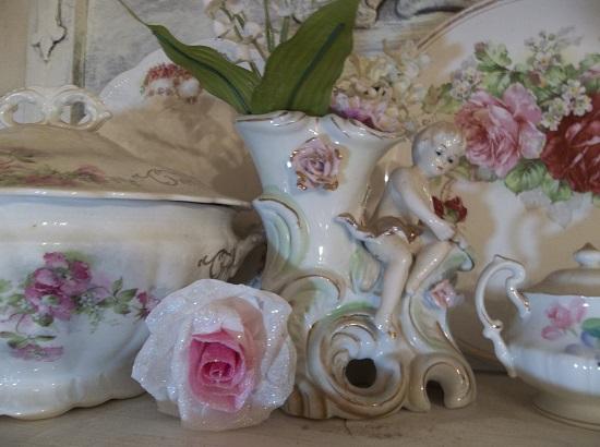 (Londa Rosa) Glittered Handmade Paper Rose