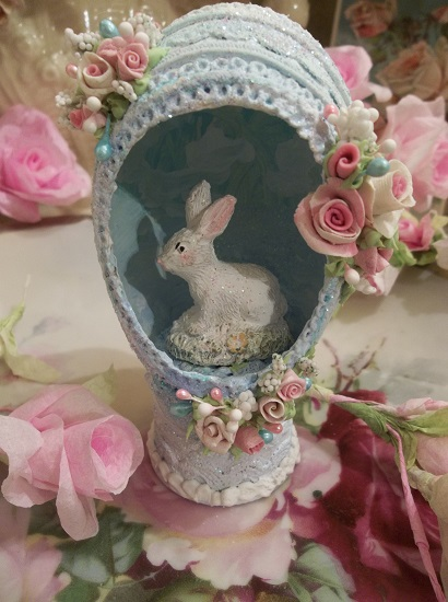 (Forget Me Not) Decorated Panoramic Easter Egg