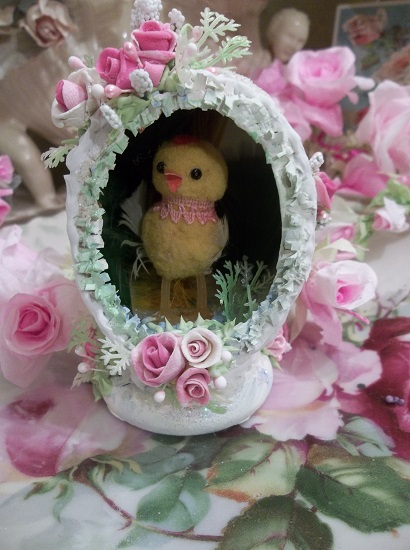 (Shabby Chick) Decorated Panoramic Easter Egg