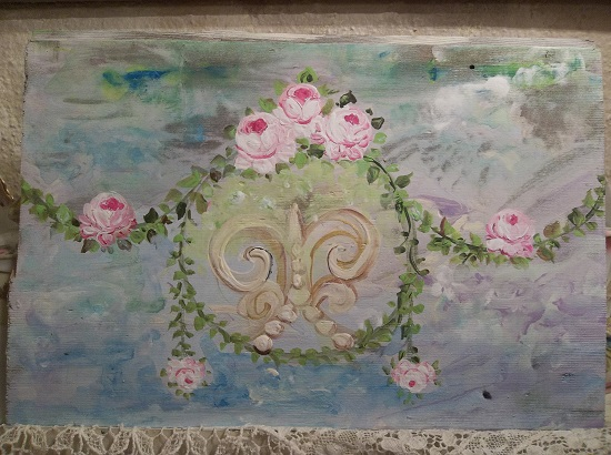 (Garland Rose) Handpainted Sign