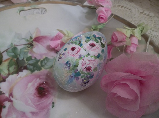 (Monet Puddle Duck) Handpainted Fake Egg