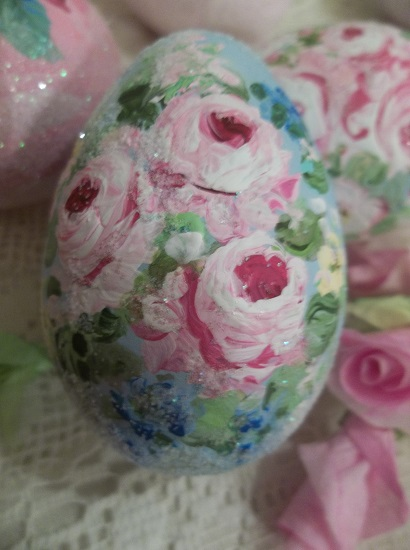 (Summer) Handpainted Fake Egg