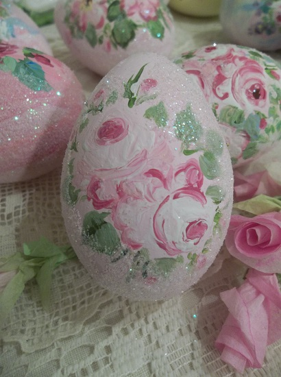 (Sheila) Handpainted Fake Egg