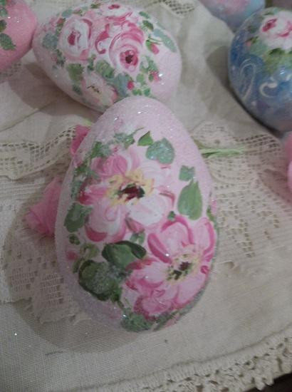 (Monica) Handpainted Fake Egg