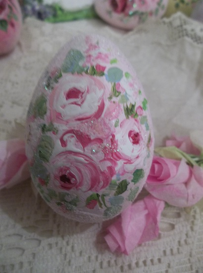 (Cassie) Handpainted Fake Egg