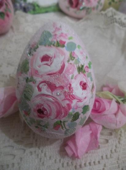 (Cassie) Handpainted Fake Egg