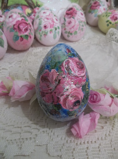 (Stardusted Rose) Handpainted Fake Egg