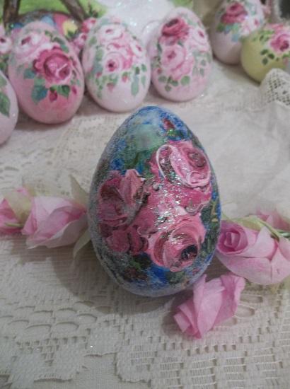 (Stardusted Rose) Handpainted Fake Egg