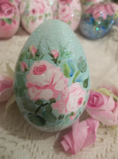 (Claudette) Handpainted Fake Egg