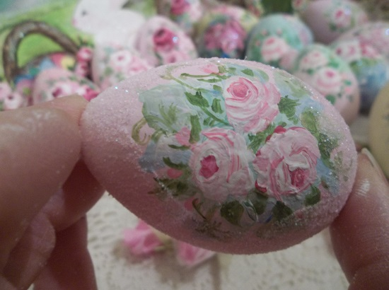 (Cotton Candy) Handpainted Fake Egg